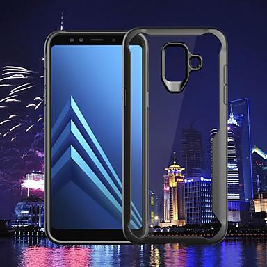 غطاء من أجل Samsung Galaxy A6 (2018) / A6+ (2018) / A8 2018 شفاف غطاء خلفي لون سادة قاسي الكمبيوتر الشخصي