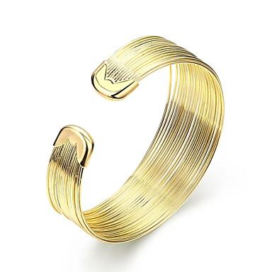 نسائي أسورة سيدات موضة مطلية بالذهب مجوهرات سوار ذهبي من أجل هدية مناسب للبس اليومي