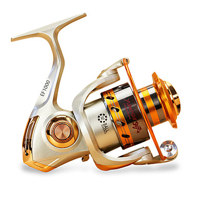 Fishing Reels بكرة دوارة 5.5/1 نسبة أعداد التروس والاسنان+12 الكرة كراسى توجيه اليد قابلة تغيير الصيد البحري / صيد الكالماري