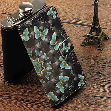 غطاء من أجل Samsung Galaxy S9 Plus / S9 محفظة / حامل البطاقات / مع حامل غطاء كامل للجسم فراشة قاسي جلد PU إلى S9 / S9 Plus / S8 Plus