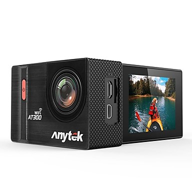 Anytek AT300 1080p ليلة الرؤية سائق سيارة 170 درجة زاوية واسعة 2.2 بوصة LTPS داش كام مع WIFI / تسجيل غير منتهي / ضد الماء مسجل السيارة