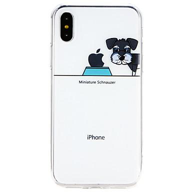 voordelige iPhone 7 Plus hoesjes-hoesje Voor Apple iPhone X / iPhone 8 Plus / iPhone 8 Ultradun Achterkant Hond Zacht TPU