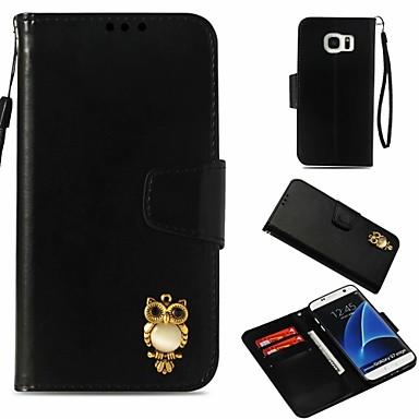 غطاء من أجل Samsung Galaxy S7 edge محفظة / حامل البطاقات / مع حامل غطاء كامل للجسم بوم قاسي جلد PU