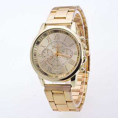 رجالي ساعة المعصم كوارتز ذهبي ساعة كاجوال مماثل سيدات موضة - ذهبي