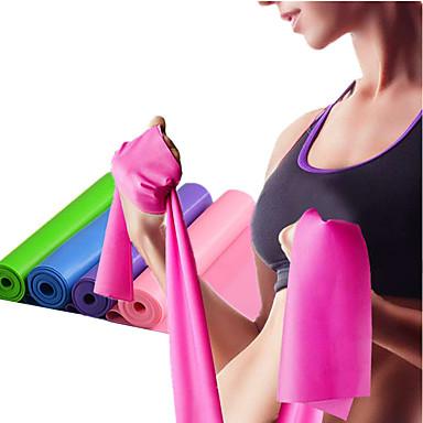 baratos Faixas para Fitness-Faixas para Exercícios de Resistência 1 pcs Esportes Emulsão Ioga Fitness Treino de Ginástica Elástico Treinamento de Resistência Fisioterapia Para Casa Escritório