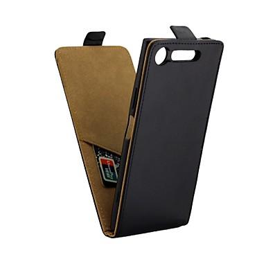 Case Kompatibilitás Sony Sony Xperia XZ1 Kártyatartó / Flip Héjtok Egyszínű Kemény PU bőr