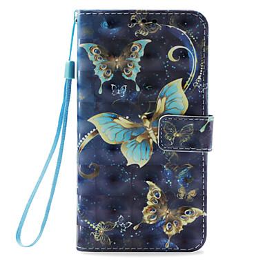 Недорогие Кейсы для iPhone 6-Кейс для Назначение Apple iPhone X / iPhone 8 Pluss / iPhone 8 Бумажник для карт / со стендом / Флип Чехол Бабочка Твердый Кожа PU