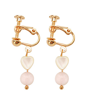 Fashion Button Stud Earrings Gold Plated Alloy Rhinestone Heart Shape Round Earrings for Daily Party Prom