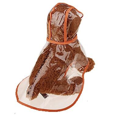 كلاب قطط حيوانات أليفة معطف المطر ملابس الكلاب شفاف كوستيوم سبيتز اليابانية شبعا اينو أفطس (البولي يورثين) PU لون سادة بسيط ستايل رياضي مجوهرات XXL