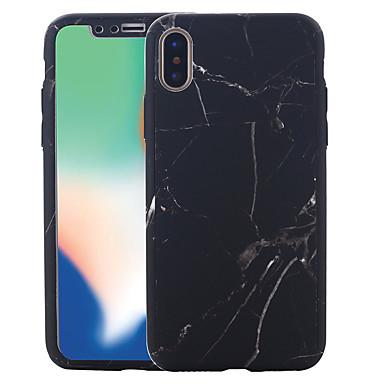 voordelige iPhone 5 hoesjes-hoesje Voor Apple iPhone X / iPhone 8 Plus / iPhone 8 Patroon Volledig hoesje Marmer Hard PC