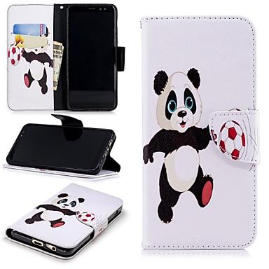 غطاء من أجل Samsung Galaxy A8 2018 محفظة / حامل البطاقات / مع حامل غطاء كامل للجسم باندا قاسي جلد PU