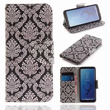 غطاء من أجل Samsung Galaxy S9 محفظة / حامل البطاقات / مع حامل غطاء كامل للجسم زهور قاسي جلد PU