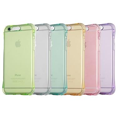 voordelige iPhone X hoesjes-hoesje Voor Apple iPhone X / iPhone 8 Plus / iPhone 8 Schokbestendig / LED-knipperlicht Achterkant Effen Zacht TPU