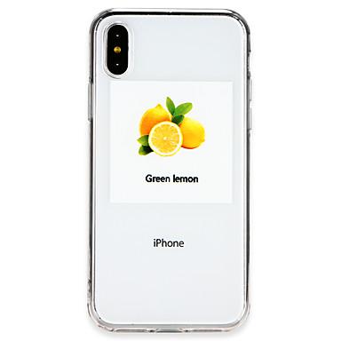 Недорогие Кейсы для iPhone X-Кейс для Назначение Apple iPhone X / iPhone 8 Pluss / iPhone 8 Ультратонкий Кейс на заднюю панель Композиция с логотипом Apple / Фрукты Мягкий ТПУ