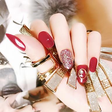24 Stück Klassisch / Einfach zu tragen Nagel Kunst Maniküre Pediküre Akzent dekorativen Freizeitskleidung