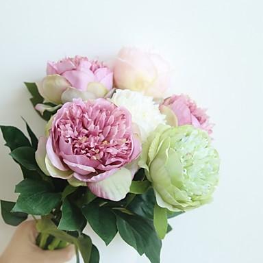 Kunstige blomster 1 Gren Klassisk Rustikk Europeisk Peoner Bordblomst