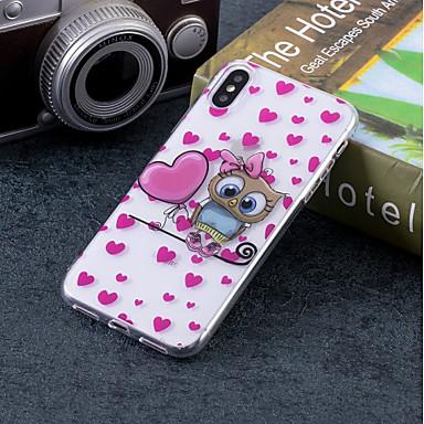 voordelige iPhone 6 Plus hoesjes-hoesje Voor Apple iPhone X / iPhone 8 Plus / iPhone 8 IMD / Patroon Achterkant dier / Uil Zacht TPU