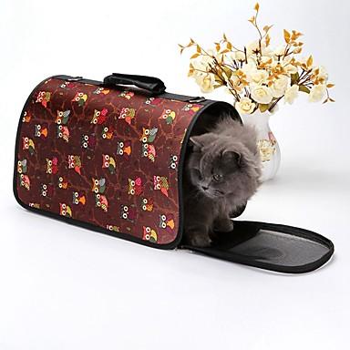 كلاب الأرانب قطط أقفاص الحاملة حقائب تحمل على الظهر وللسفر حقيبة الكتف حيوانات أليفة حاملات المحمول مصغرة التخييم والتنزه موضة بريطاني لوليتا تمويه اللون أزرق فاتح أسود