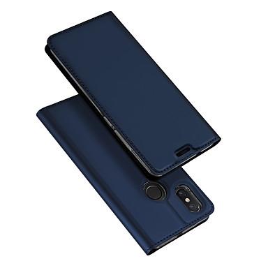 Недорогие Чехлы и кейсы для Xiaomi-Кейс для Назначение Xiaomi Xiaomi Mi Mix 2 / Xiaomi Mi Mix 2S / Xiaomi Mi Mix Флип / Ультратонкий Чехол Однотонный Твердый Кожа PU / Xiaomi Mi 6