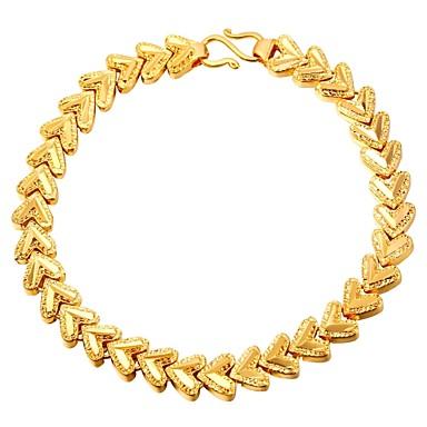 نسائي أسورة قلب أنيق نحاس مجوهرات سوار ذهبي / فضي من أجل هدية مناسب للبس اليومي