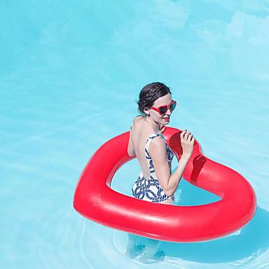 olcso Kiegészítők úszástanuláshoz-Heart Shape Felfújható strandjátékok PVC Tartós Felfújható Úszás Vízi sportok mert Felnőttek 110*90 cm