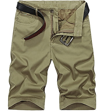 new lifestyle look out for beautiful design [$17.33] Men's Basic Daily Shorts Pants - Geometric Army Green Khaki Royal  Blue 38 35 42