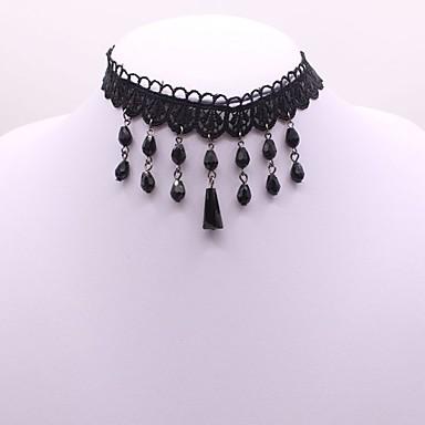نسائي قلادات ضيقة سيدات كلاسيكي قوطي موضة دانتيل أسود 31+8 cm قلادة مجوهرات 1PC من أجل مناسب للبس اليومي