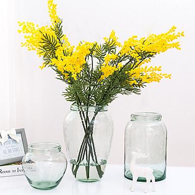 زهور اصطناعية 1 فرع كلاسيكي الحديث المعاصر أسلوب بسيط نباتات أزهار الطاولة