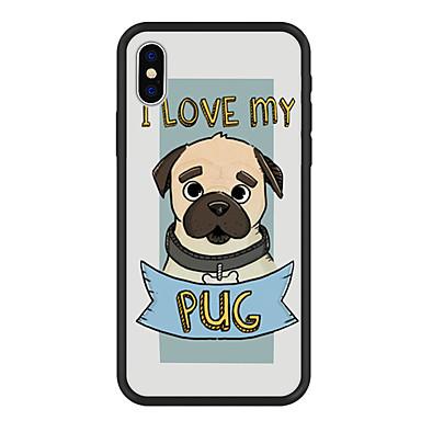غطاء من أجل Apple iPhone X / iPhone 8 Plus / iPhone 8 نموذج غطاء خلفي كلب / جملة / كلمة / كارتون قاسي أكريليك