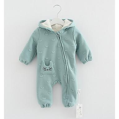 povoljno Odjeća za bebe Za dječake-Dijete Dječaci Ulični šik Print Dugih rukava Pamuk Kombinezon Djetelina / Dijete koje je tek prohodalo