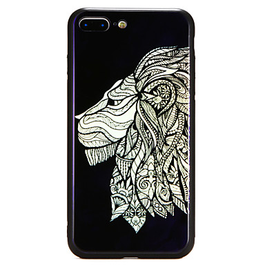 Case Kompatibilitás Apple iPhone X / iPhone 8 Plus / iPhone 8 Minta Fekete tok Állat / Oroszlán Kemény Hőkezelt üveg