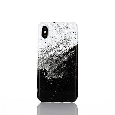 غطاء من أجل Apple iPhone X / iPhone 8 Plus / iPhone 8 IMD غطاء خلفي حجر كريم ناعم TPU