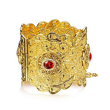 نسائي متعدد الطبقات أساور أساور اصفاد مطلية بالذهب سيدات عرقي سوار مجوهرات ذهبي من أجل مناسب للحفلات هدية
