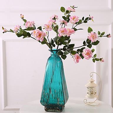 زهور اصطناعية 3 فرع كلاسيكي فردي الزفاف Wedding Flowers الورود الزهور الخالدة أزهار الطاولة