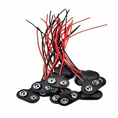 cheap DIY Parts-20Pcs 9 Volt Battery Clip Connector Battery Snap Wire Connectors