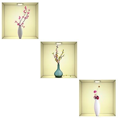 لواصق حائط مزخرفة - لواصق الأزهار / النباتية / 3D غرفة الطعام / غرفة دراسة / مكتب