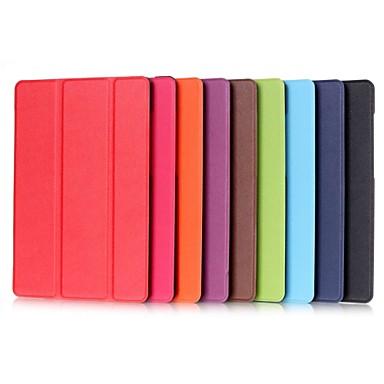 voordelige Samsung-hoes voor tablets-hoesje Voor Samsung Galaxy Tab S2 9.7 / Tab E 9.6 met standaard / Flip Volledig hoesje Effen Hard PU-nahka