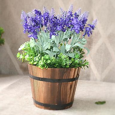 زهور اصطناعية 1 فرع كلاسيكي أنيق زهري أزرق فاتح أزهار الطاولة