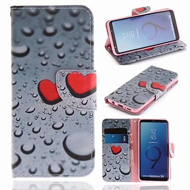 غطاء من أجل Samsung Galaxy S9 محفظة / حامل البطاقات / مع حامل غطاء كامل للجسم قلب قاسي جلد PU