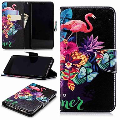 povoljno Maske za mobitele-Θήκη Za Huawei Huawei P20 / Huawei P20 Pro / Huawei P20 lite Novčanik / Utor za kartice / sa stalkom Korice Flamingo Tvrdo PU koža / P10 Lite
