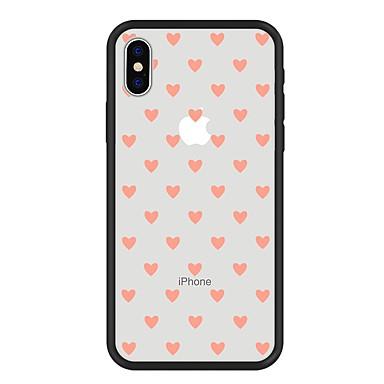 غطاء من أجل Apple iPhone X / iPhone 8 Plus / iPhone 8 نموذج غطاء خلفي قلب / كارتون قاسي أكريليك