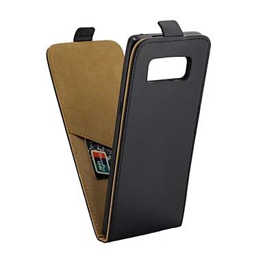 غطاء من أجل Samsung Galaxy Note 8 حامل البطاقات / قلب غطاء كامل للجسم لون سادة قاسي جلد PU