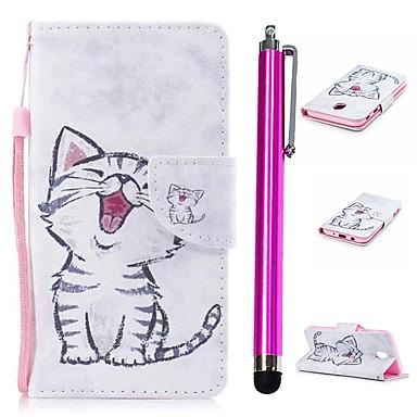 غطاء من أجل Samsung Galaxy J3 (2017) محفظة / حامل البطاقات / مع حامل غطاء كامل للجسم قطة قاسي جلد PU