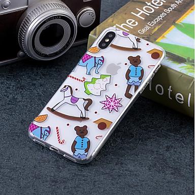 غطاء من أجل Apple iPhone X / iPhone 8 Plus / iPhone 8 IMD / نموذج غطاء خلفي كارتون ناعم TPU