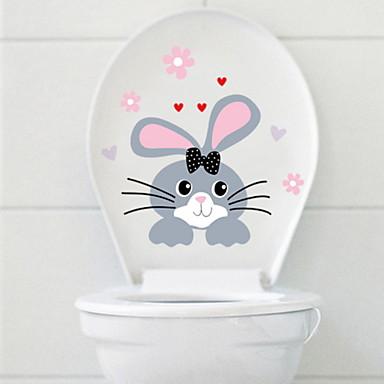 لواصق المرحاض - ملصقات الحائط الحيوان حيوانات دورة المياه / لواصق المرحاض    / قابل للنقل
