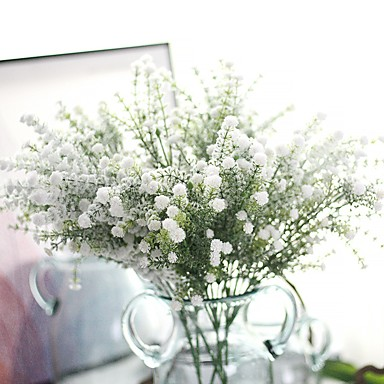 Artificial Flowers 1 Branch Stylish Rustic Baby Breath Eternal Flower Tabletop Flower