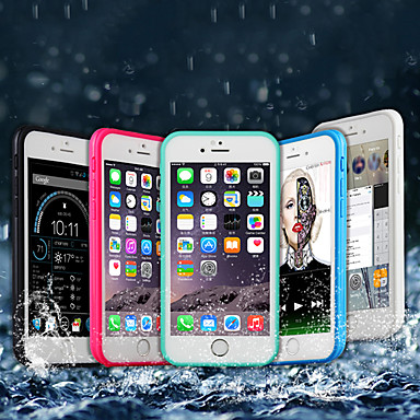 voordelige iPhone-hoesjes-hoesje Voor Apple iPhone X / iPhone 8 Plus / iPhone 8 Waterbestendig / Schokbestendig Volledig hoesje Effen Zacht TPU