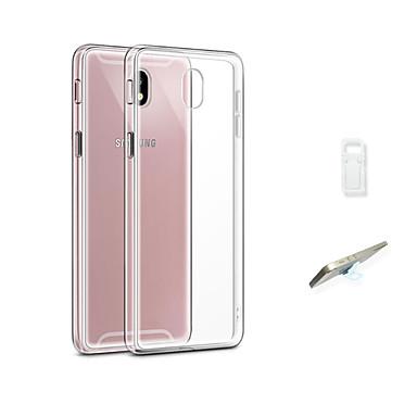 voordelige Galaxy J-serie hoesjes / covers-hoesje Voor Samsung Galaxy J3 (2017) Transparant Achterkant Effen Zacht TPU