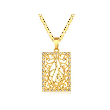 نسائي قلائد الحلي سلسلة سميكة مجوّف مدلاة سيدات عتيق عرقي ايطالي مطلية بالذهب عيار 18 نحاس ذهبي فضي 50 cm قلادة مجوهرات 1PC من أجل مناسب للحفلات هدية