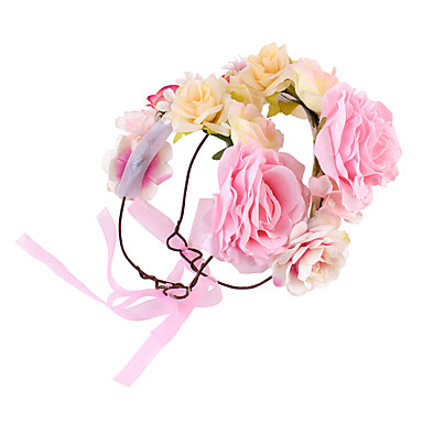 cheap Kids' Headpieces-Kids Girls' Sweet Daily Floral / Botanical Floral Style Cotton Hair Accessories White / Orange / Pink One-Size / Hair Tie